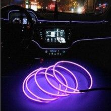 NoEnName 5 m luzes Do Carro decorativas Dirigir à noite Luz Ambiente EL luz fria linha decorativa DIY console do painel da porta