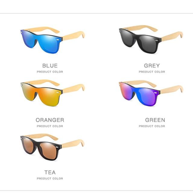 Wood Sunglasses Men Women Square Bamboo Women for Women Men Mirror Sun Glasses Oversize Retro De Sol Masculino Handmade 6