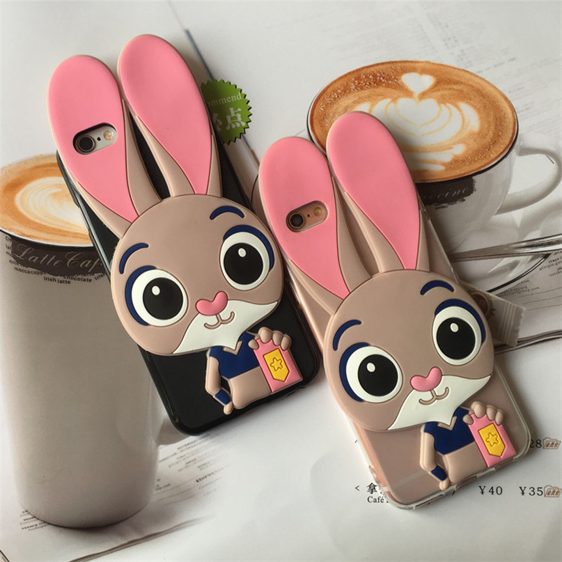 Luxury Rabbit Case for <font><b>Alcatel</b></font> One Touch Pop 4/Pixi 4/Pixi 4 Plus 5051 5010D <font><b>5056D</b></font> 5045X Cover image