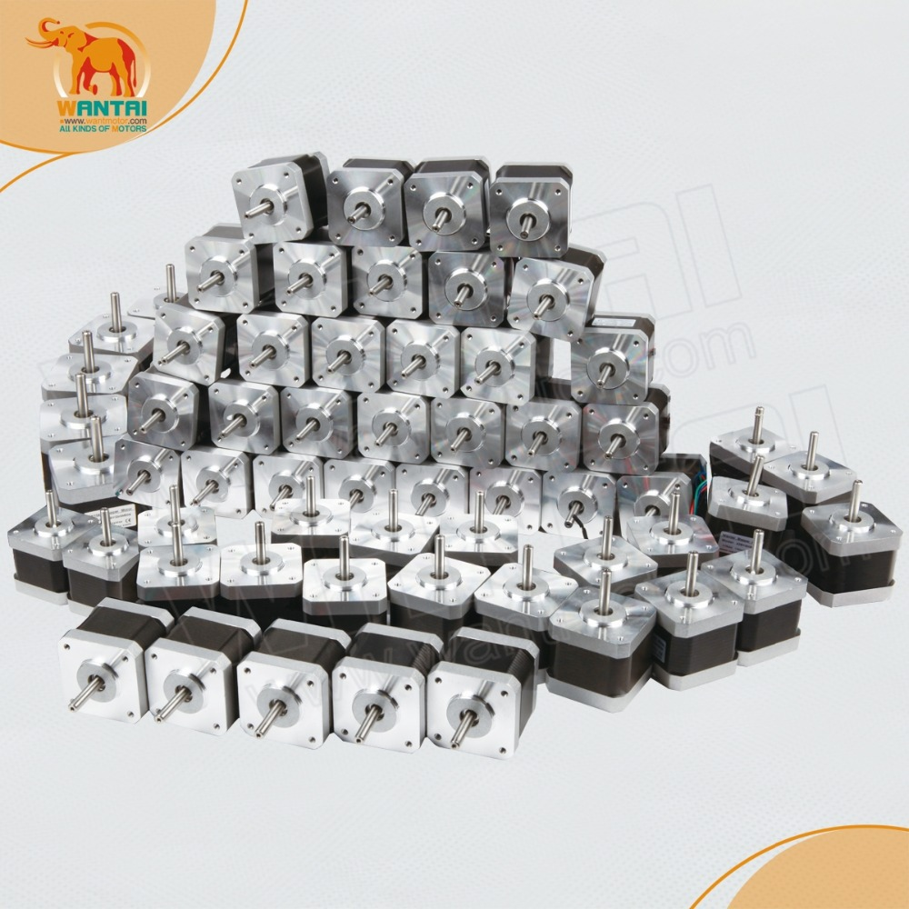 (Huge discount for New Year & Ship from China) 60PCS Nema 17 Stepper Motor,42BYGHW811, 4800g.cm,2.5A,3D Prusa Printer/Printing huge discount for new year