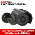 Solar Power Imitation High Simulation CCTV Camera Dummy Camera Fake Monitor Waterproof Outdoor Surveillance Camera
