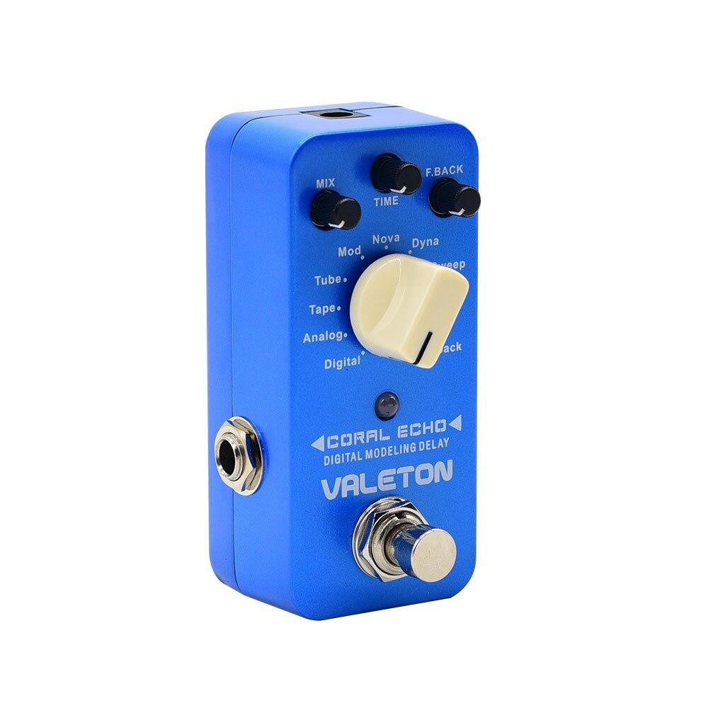 Valeton サンゴエコーデジタルモデリング遅延エレキギターエフェクトペダルストンプボックスアナログスイープ CDL 3  グループ上の スポーツ & エンターテイメント からの 電子楽器パーツ & アクセサリー の中 1