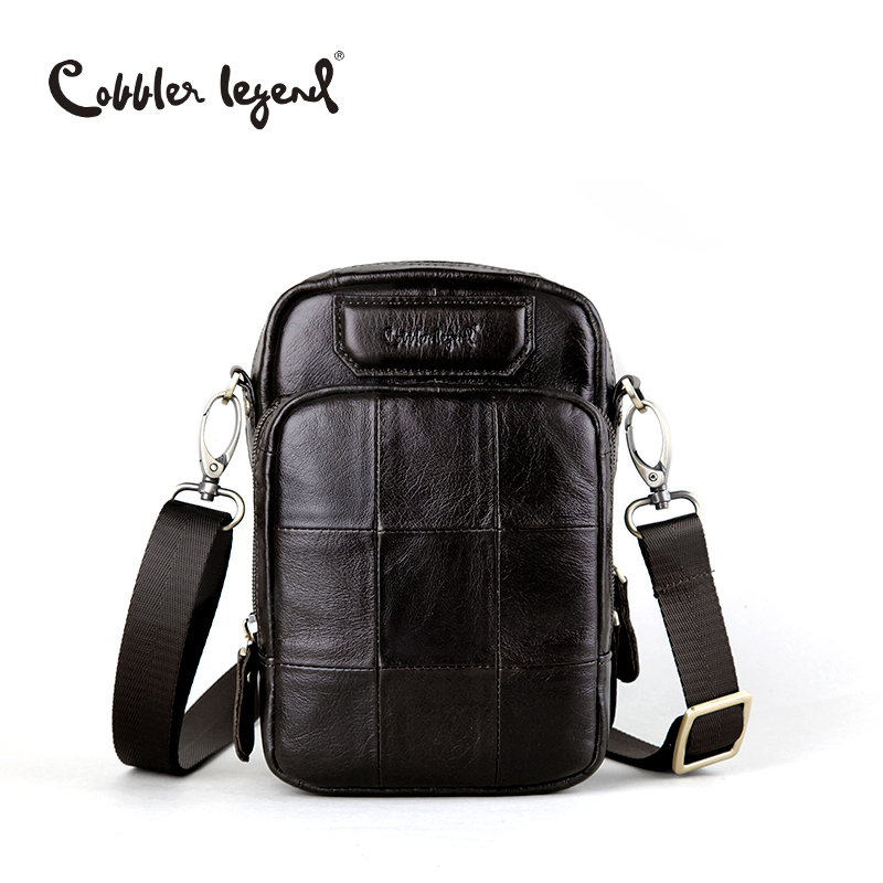 ФОТО Cobbler Legend Brand Designer Genuine Leather Bag For Men's Bags Male Small Crossbody Bag 2017 Casual Style Shoulder Bag For Men