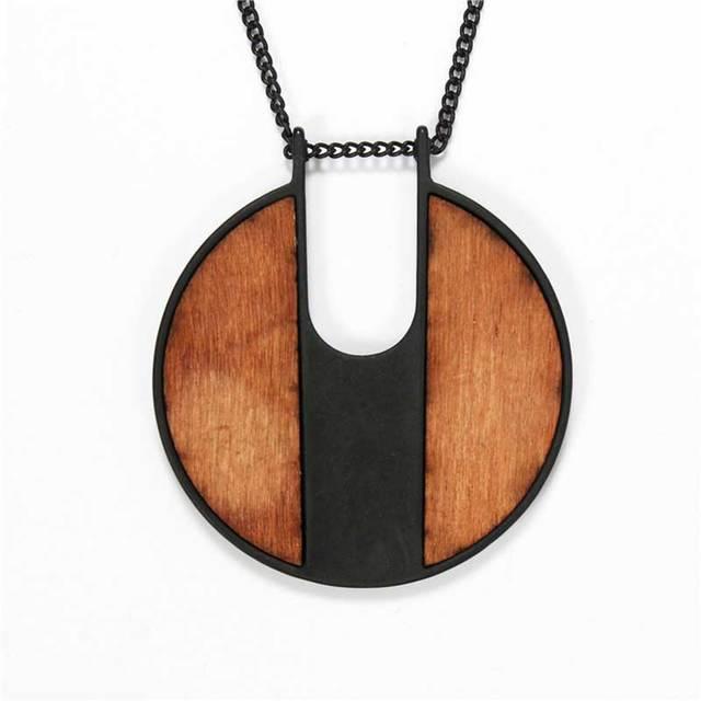 Jshine brand minimalist vintage wooden jewelry necklaces pendants jshine brand minimalist vintage wooden jewelry necklaces pendants 2017 new long round necklace women accessories mozeypictures Choice Image