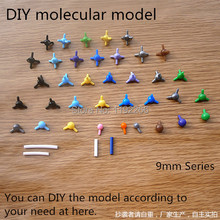 wholesale high quality DIY Chemical molecular Crystal structure model 9mm Series mini style for Chemistry teaching free shipping