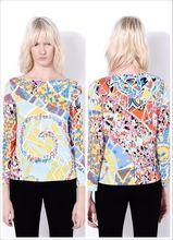 tシャツ ヨーロッパ夏ドレス高品質印刷silm弾性ニット を新しい