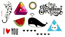 (Min Order $0.5) Waterproof Temporary Tattoo Tatoo Henna Fake Flash Tattoo Stickers Taty Tatto Everything Love SYA025