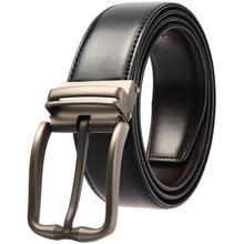 лучшая цена 4color Genuine Leather Male Belt For Men Brand Luxury Men's Belt Pin Buckle Cowhide Fashion Designer Belt Men Good Quality Strap