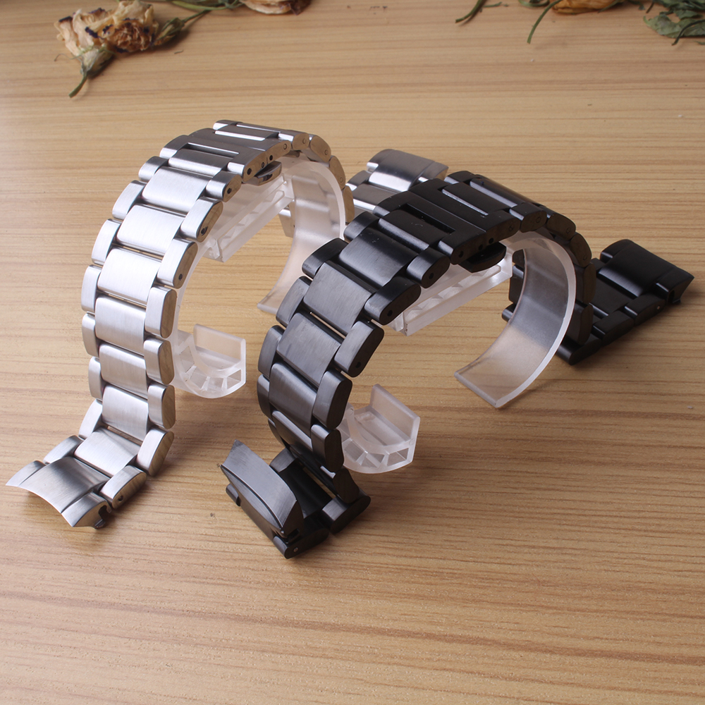 New Quality 22mm stainless steel Watchbands Black Silver metal For Samsung Gear S3 frontier Smart Watch Band Strap bracelet hot серьги telle quelle серьги