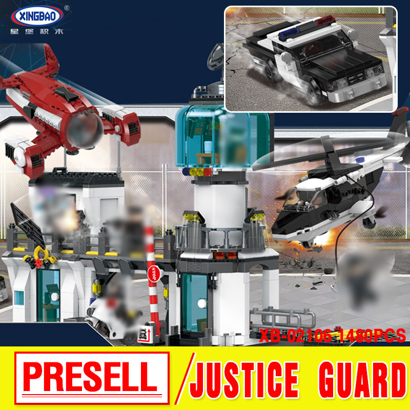 XingBao 02106 New Kids Toys City Series The Police Station Escape Set Model Building Blocks Bricks Toys For Kids Christmas Gifts dhl lepin 02020 city series the new police station model building blocks set compatible 60141 educational bricks children toys
