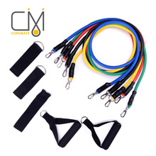 ФОТО coremate resistance bands set fitness equipment pull rope latex crossfit pilates sport gym workout rubber string chest developer