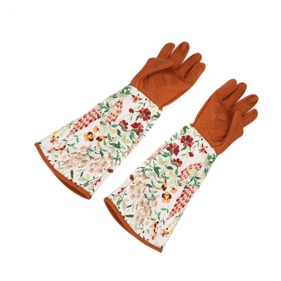 1 Pair Security Long Sleeve Anti Stab Thicken Printed Trimming Cold-proof Gardening Labor Gloves Pruning Tools Accessories Garden Gloves Protective Gears