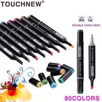 TOUCHNEW 30 40 60 80 Colors Artist Dual Head Sketch Copic Markers Set For Manga Marker