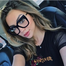 556e1238cd9c Big Square Frames Clear Lens Vintage Glasses spectacles women transparent  glasses myopia thick frame sun glasses