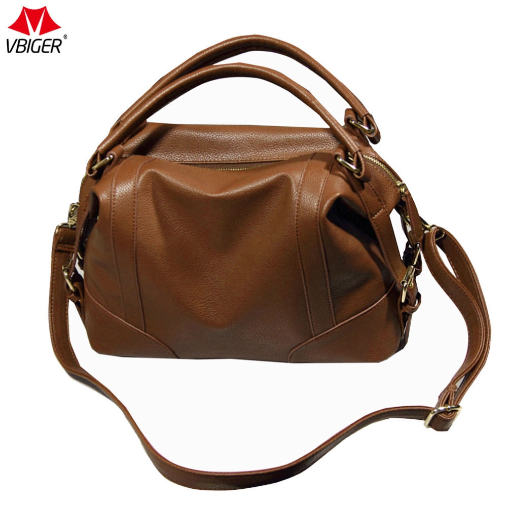 Vbiger Women Handbag Fashionable PU Leather Shoulder Bag Chic Cross-body Bag Casual Tote Bag with Multiple Pockets Hot Sale hot sale ladies classic handbag big volume casual bag for women fashionable