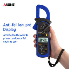 Aneng ST201 Digital Multimeter Clamp Ammeter Transistor Tester Kapasitor Tester Uji Daya Otomotif Voltage Tester(China)