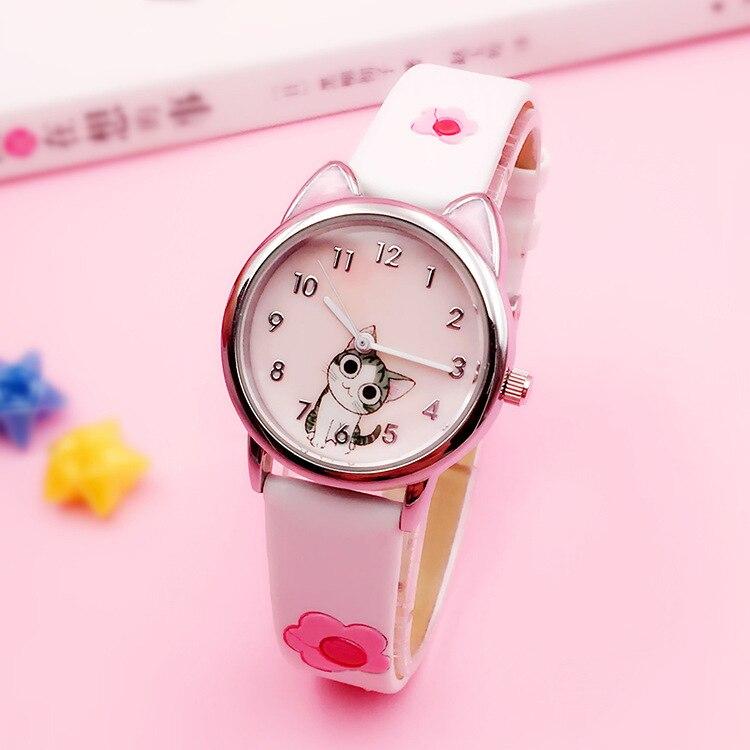 JOYROX mignon fromage chat motif enfants montre Quartz analogique enfant montres pour garçons filles étudiant horloge cadeau Relogio Feminino
