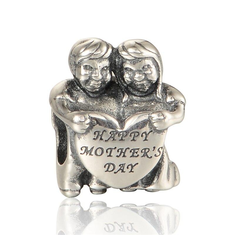 ᗔFeliz Día de la madre joyería 925 joyas de plata de la vendimia se ...