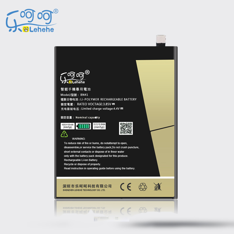 New Original LEHEHE Battery For Xiaomi Redmi Note4 BN41 4100mAh High Capacity Replacement Bateria Free Tools Gifts