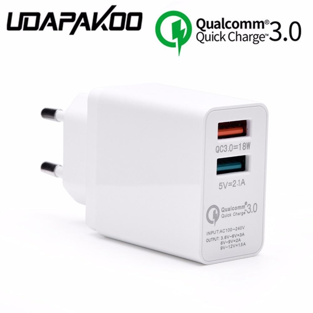 9 V 12 V 1.5A Charge Rapide QC 3.0 18 W USB Chargeur rapide pour samsung galaxy s8 Compatible 2.0 pour xiaomi htc LG Mur UE plug adaptateur