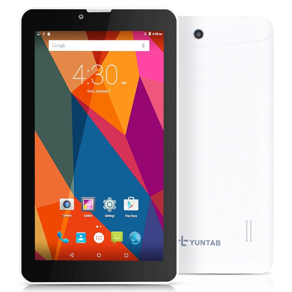 Yuntab 7 inch 3G Unlocked Smartphone Tablet PC 1GB+8GB Android 5.1 MTK8321 Quad Core IPS 1024*600 Google Tablet GPS Bluetooth
