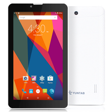 Yuntab 7 дюймов 3 г разблокирован смартфон Tablette pc 1 ГБ + 8 ГБ Android 5.1 MTK8321 Quad Core IPS 1024*600 Google Tablette GPS Bluetooth