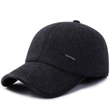 SQTEIO autumn and winter warm ear protection wool baseball cap men and women outdoor sun hat