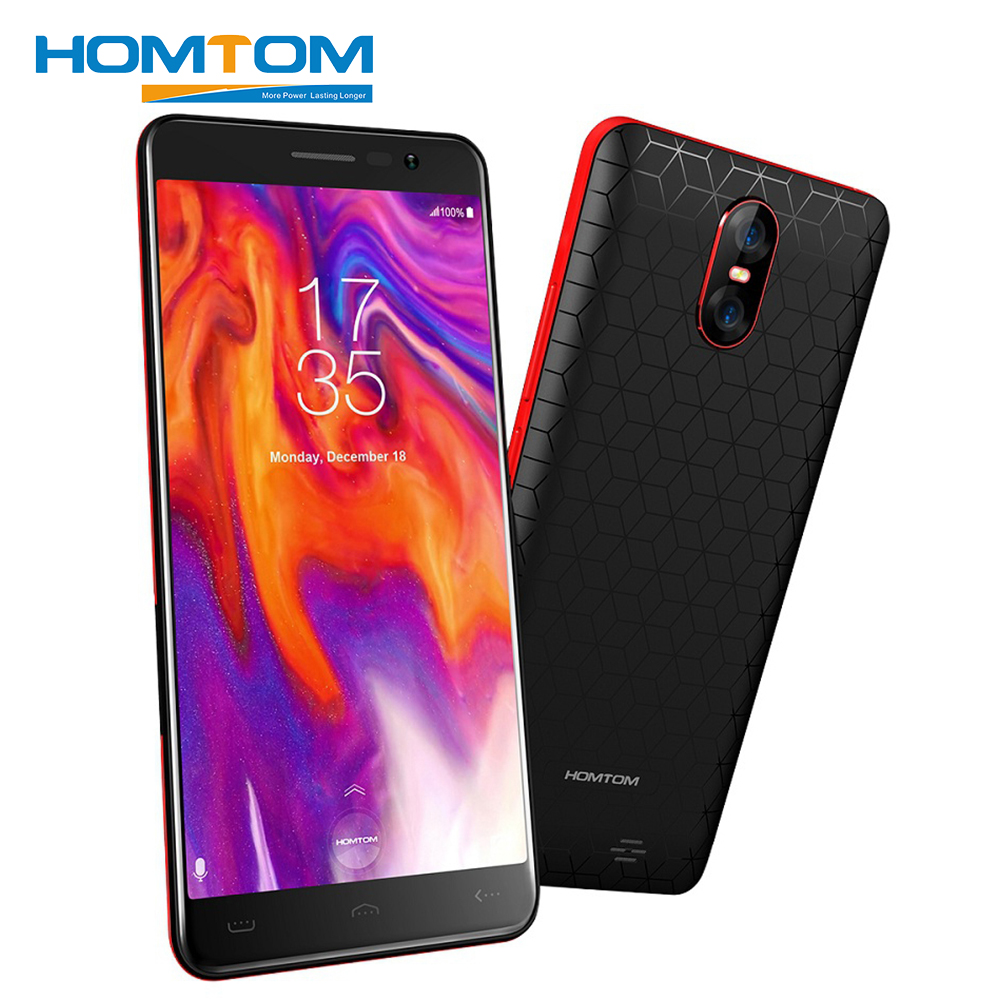 HOMTOM S12 Smartphone 5.0 Inch 18:9 Display 8MP 2MP Dual Back Camera Android6.0 MT6580 Quad Core 1GB RAM 8GB ROM 3G Mobile Phone