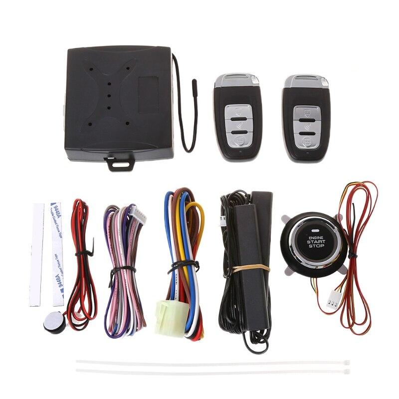 Livraison gratuite 2018 nouveau système intelligent d'alarme de sécurité Auto 1 Set avec système d'avertissement de verrouillage à distance sans clé passif PKE