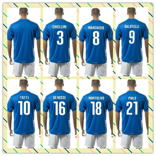 low priced 4aa5c b83d5 Top Sell Uniforms Kit 2015 2016 Italy BUFFON 10# TOTTI 21 ...