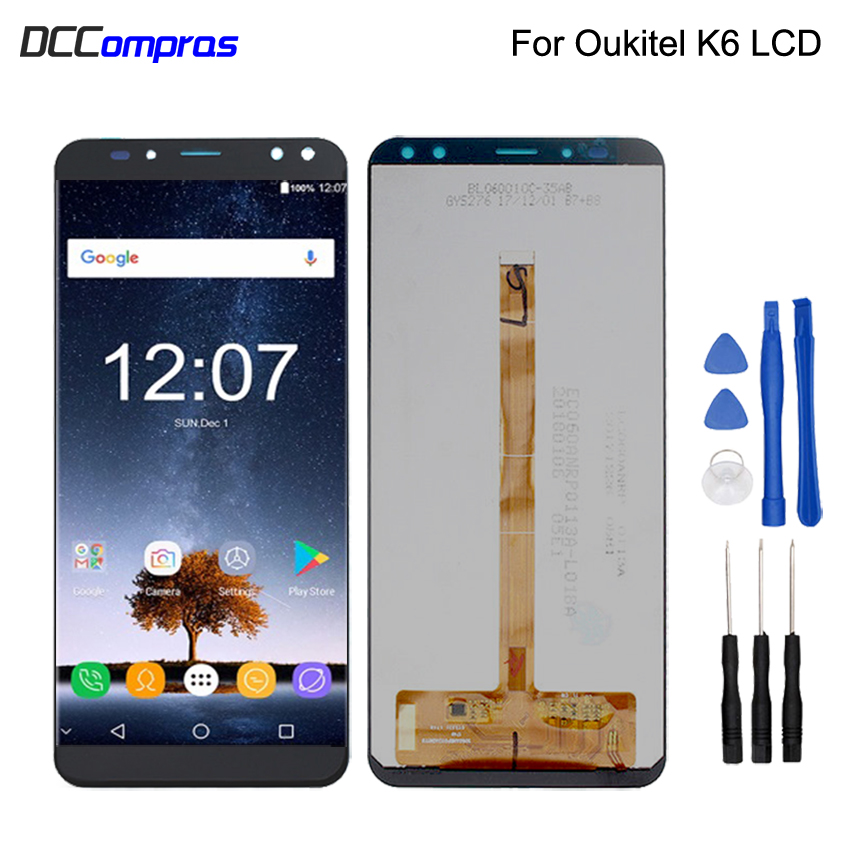 Original For Oukitel k6 LCD Display Touch Screen Digitizer Replacement For Oukitel K6 LCD Screen Display