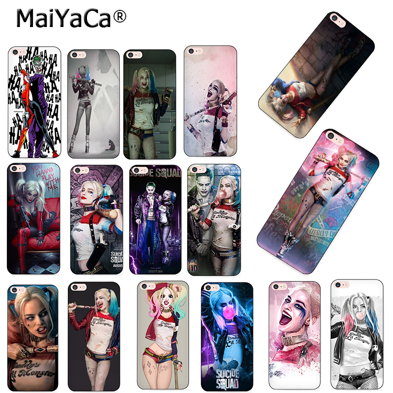 MaiYaCa Harley Quinn Suicide Squad Joker Wink Phone Accessories Case for Apple iPhone 8 7 6 6S Plus X 5 5S SE 11pro max case