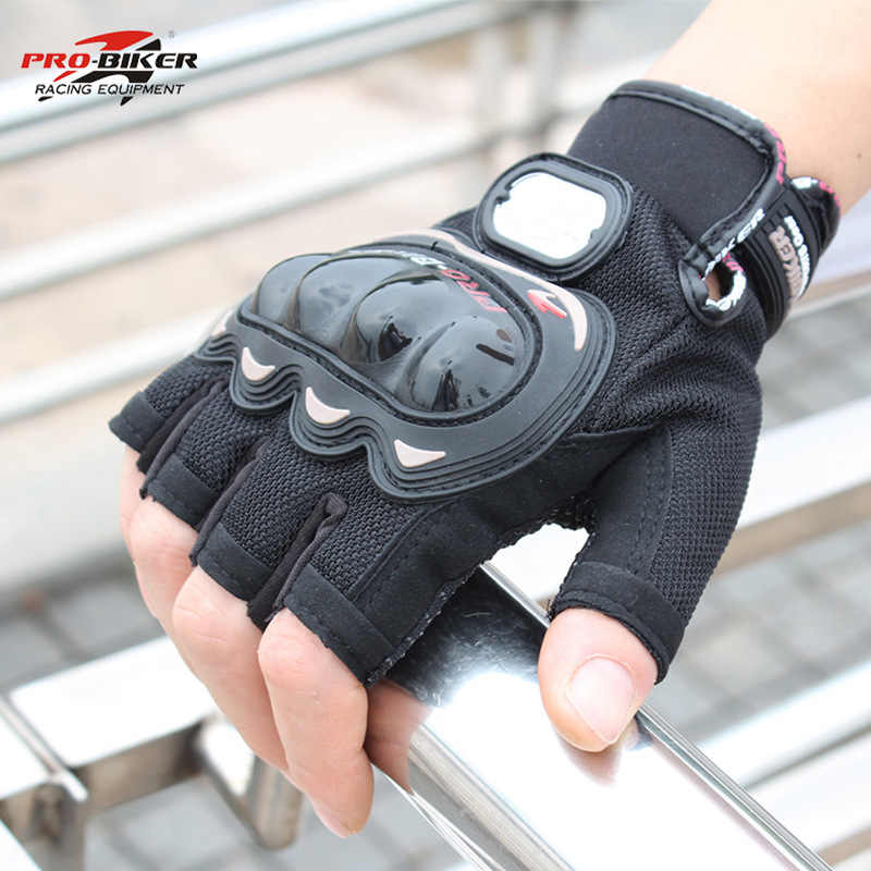 販売!!バイクハーフフィンガーオートバイ手袋冬夏革luvasパラモトバイクモトクロスダウンヒルバイカーグローブ