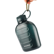 Army green sports bottle thickening 1000ML large capacity kettle portable outdoor travel