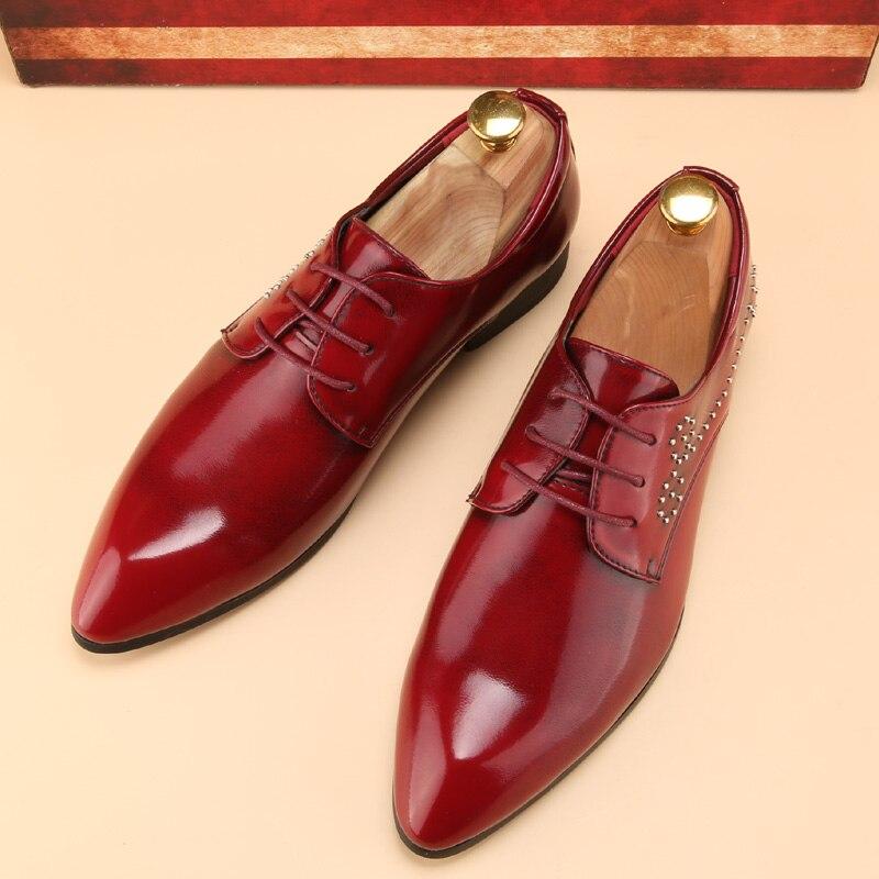 Hombres calzado zapatos de esmoquin de la marca de lujo  del ballet señalaron ve