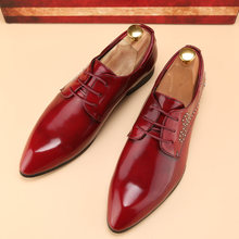 aa48d5654e7 men footwear shoes luxury brand tuxedo 2016 ballet flats pointed toe gold  dress party glossy patent leather oxford shoes for men
