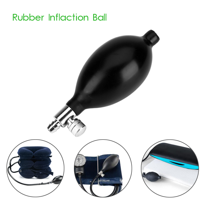 Medical Sphygmomanometer Tonometer Ball Blood Pressure Cervical Tractor Accessory Latex Air Inflation Balloon Bulb Pump Valve(China)