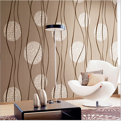 Italian deep embossed wallpaper modern wavy striped for Wallpaper home improvement questions
