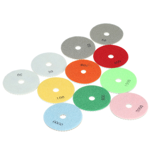 "Image 4 - 11pcs 4"" abrasive tools Diamond Wet Polishing Pads sanding Grinding Disc accessories+ 1pc Backing Pad for Marble Stone"