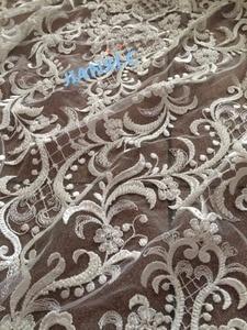 Image 5 - عصري مطرز JIANXI.C 91224 الأفريقية الفرنسية النسيج الدانتيل ذات جودة عالية الأفريقية تول أقمشة الدانتيل ل فستان الزفاف