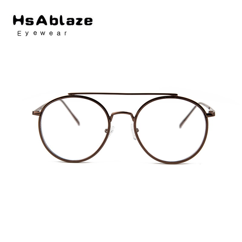 f6e705b2a4b HsAblaze Eyewear Retro Clear Cens Nerd Glasses Frames For Men Male Oval  Round Eyeglasses For Women Gold Metal Glasses Frame-in Eyewear Frames from  Apparel ...