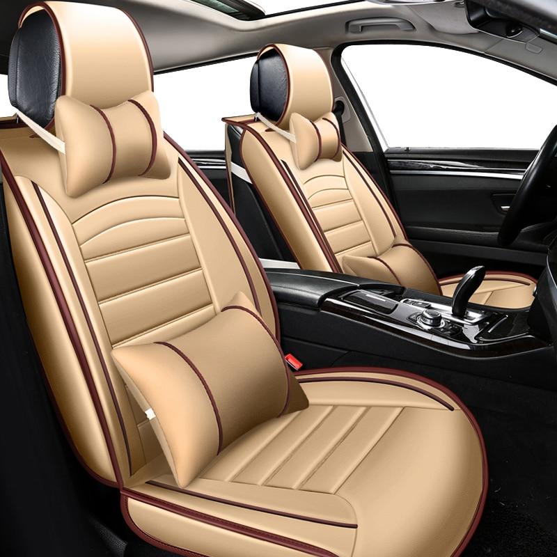 KOKOLOLEE PU leather car seat covers set for toyota volkswagen RAV4 skoda rapid Lexus ES IS LS RX NX LX Prado Kia auto accessory custom seat covers for lincoln ls diamond