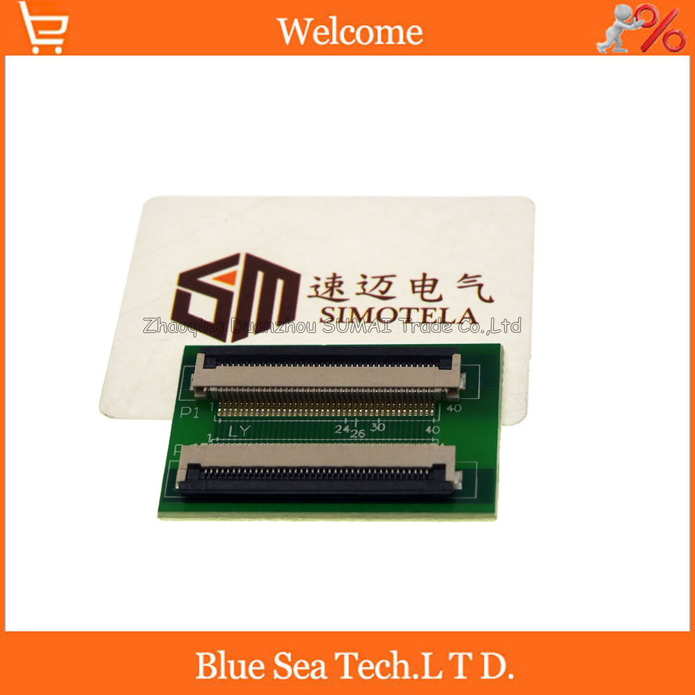 40 Pin 0.5mm FPC/FFC PCB connector socket adapter board,40P flat cable extend for LCD screen interface