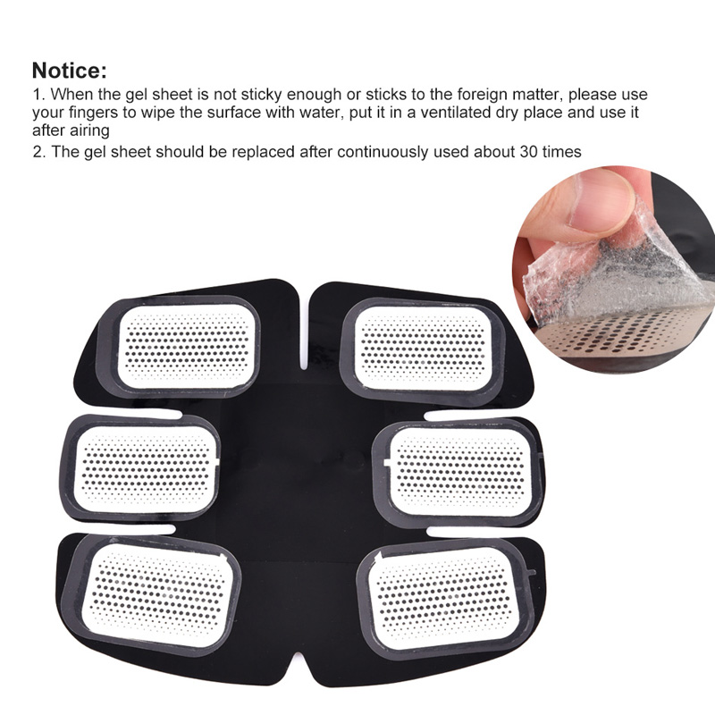 5 Pair(10pc) Replacement Gel Pads For EMS Trainer Weight Loss Abdominal Muscle Stimulator Exerciser Replacement Massage Gel 4