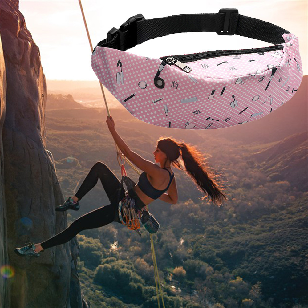 Colorful Waist Bag Waterproof Travel Fanny Pack Mobile Phone Waist Pack Belt Bag Female Chest Mobile Phone Holder Sac Banane