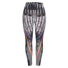 Stretch Sexy Printed Leggings Women Fitness Yoga Clothing Booty Pattern Training Gym Leggins Sport Running Tights Trousers