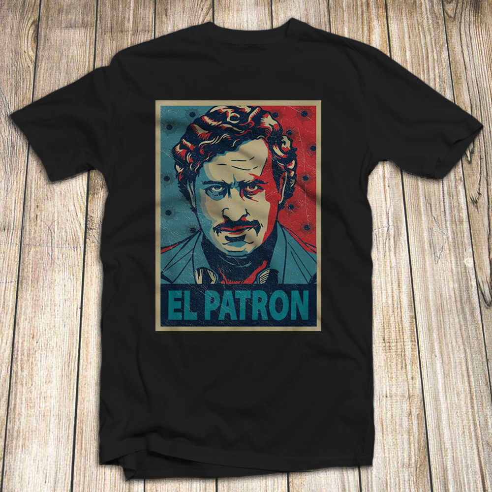 Narcos Pablo Escobar T Shirt 100% Katoen Maat S-5XL Made In USA El Patron Harajuku Tops t-shirt fashion Classic Unieke
