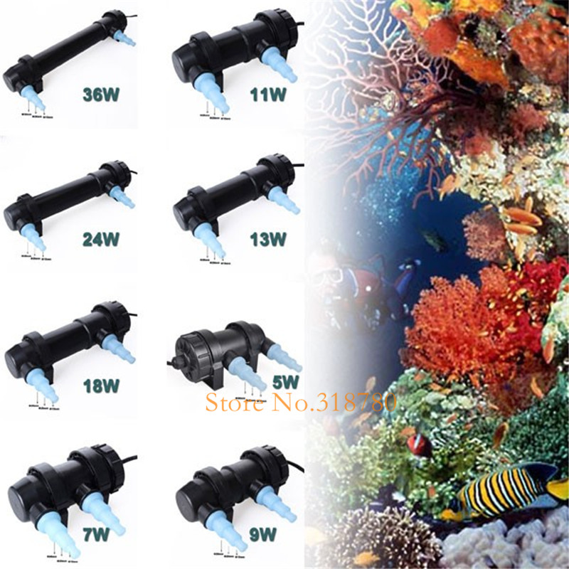 JEBO 5W-36W Aquarium Pond UV Steriliseringslampe Vandrenser Fish Tank - Pet produkter - Foto 4