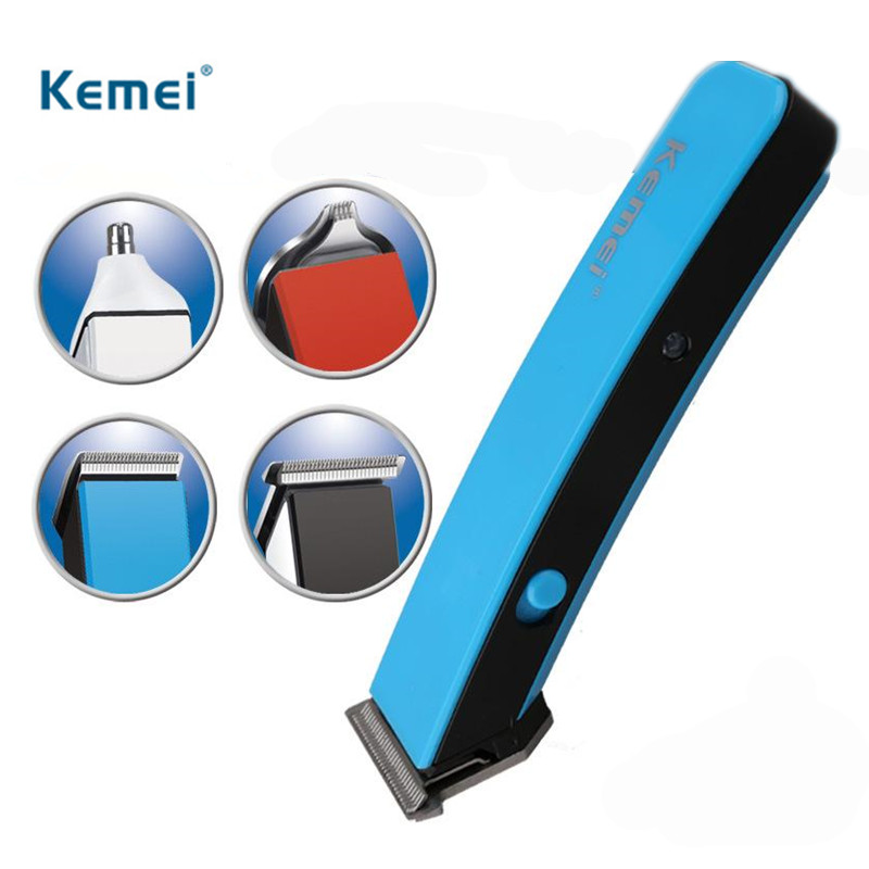 Kemei 4 In 1 Electric Shaving Barber Hair Clippers Rechargeable nose ear Hair Trimmer Shaver Razor Cordless Adjustable Clipper kemei km 1832 men s hair clipper trimmer hair cut set rechargeable electric clipper shaver razor beard trimmer nose ear shaving