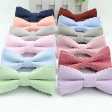 Детский галстук-бабочка однотонного цвета, Официальный галстук-бабочка из хлопка, детский классический галстук-бабочка однотонного цвета, галстук-бабочка для свадебной вечеринки, галстуки для смокинга